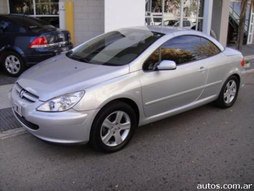 ars peugeot 307 coup cabrio 2 0 con fotos en rojas a o 2005 nafta. Black Bedroom Furniture Sets. Home Design Ideas